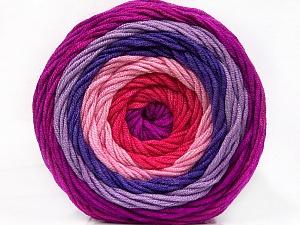Fiber Content 100% Acrylic, Salmon, Pink, Lilac Shades, Brand Ice Yarns, Yarn Thickness 4 Medium  Worsted, Afghan, Aran, fnt2-56548