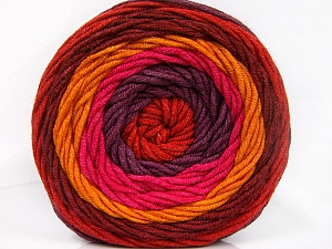 Fiber Content 100% Acrylic, Red, Pink, Orange, Maroon, Brand Ice Yarns, Burgundy, Yarn Thickness 4 Medium  Worsted, Afghan, Aran, fnt2-56549