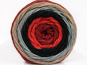 Fiber Content 100% Acrylic, Salmon, Brand Ice Yarns, Grey, Camel, Burgundy, Black, Yarn Thickness 4 Medium  Worsted, Afghan, Aran, fnt2-56550