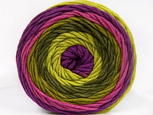 Fiber Content 100% Acrylic, Purple, Orchid, Brand Ice Yarns, Green Shades, Yarn Thickness 4 Medium  Worsted, Afghan, Aran, fnt2-56552