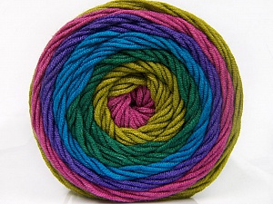 Fiber Content 100% Acrylic, Turquoise, Purple, Orchid, Brand Ice Yarns, Green Shades, Yarn Thickness 4 Medium  Worsted, Afghan, Aran, fnt2-56553