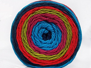 Fiber Content 100% Acrylic, Turquoise, Salmon, Orchid, Olive Green, Navy, Brand Ice Yarns, Yarn Thickness 4 Medium  Worsted, Afghan, Aran, fnt2-56554