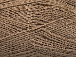 Fiber Content 100% Acrylic, Brand Ice Yarns, Camel, Yarn Thickness 3 Light  DK, Light, Worsted, fnt2-56562