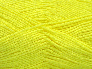 Fiber Content 50% Acrylic, 50% Bamboo, Neon Green, Brand Ice Yarns, Yarn Thickness 2 Fine  Sport, Baby, fnt2-56576