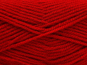 Worsted  Fiber Content 100% Acrylic, Red, Brand Ice Yarns, Yarn Thickness 4 Medium  Worsted, Afghan, Aran, fnt2-56930