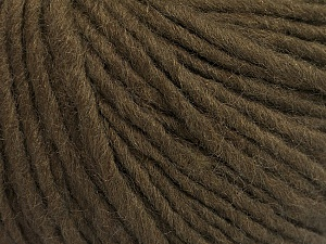 Fiber Content 50% Acrylic, 50% Wool, Brand Ice Yarns, Dark Brown, Yarn Thickness 4 Medium  Worsted, Afghan, Aran, fnt2-57006