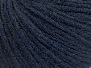 Fiber Content 50% Wool, 50% Acrylic, Navy, Brand Ice Yarns, Yarn Thickness 4 Medium  Worsted, Afghan, Aran, fnt2-57009