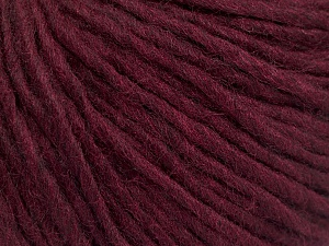 Fiber Content 50% Wool, 50% Acrylic, Brand Ice Yarns, Burgundy, Yarn Thickness 4 Medium  Worsted, Afghan, Aran, fnt2-57013