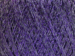 Fiber Content 75% Viscose, 25% Metallic Lurex, Lavender, Brand Ice Yarns, Yarn Thickness 2 Fine  Sport, Baby, fnt2-57027