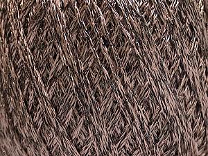Fiber Content 85% Viscose, 15% Metallic Lurex, Brand Ice Yarns, Camel, Brown, Yarn Thickness 3 Light  DK, Light, Worsted, fnt2-57033