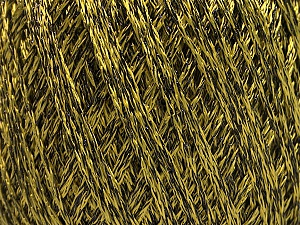 Fiber Content 85% Viscose, 15% Metallic Lurex, Olive Green, Brand Ice Yarns, Black, Yarn Thickness 3 Light  DK, Light, Worsted, fnt2-57038