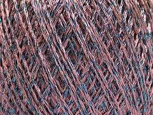 Fiber Content 85% Viscose, 15% Metallic Lurex, Pink, Brand Ice Yarns, Blue, Yarn Thickness 3 Light  DK, Light, Worsted, fnt2-57045