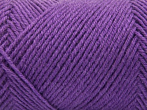 Fiber Content 50% Wool, 50% Acrylic, Lavender, Brand Ice Yarns, Yarn Thickness 3 Light  DK, Light, Worsted, fnt2-57178