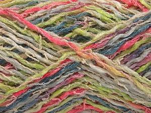 Fiber Content 45% Acrylic, 35% Cotton, 20% Polyamide, Pink, Light Green, Brand Ice Yarns, Grey, Cream, Yarn Thickness 3 Light  DK, Light, Worsted, fnt2-57265