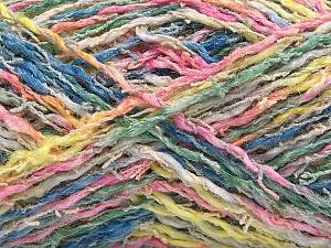 Fiber Content 45% Acrylic, 35% Cotton, 20% Polyamide, Yellow, Pink, Brand Ice Yarns, Green, Blue, Yarn Thickness 3 Light  DK, Light, Worsted, fnt2-57266