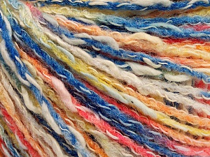 Fiber Content 50% Cotton, 50% Acrylic, Yellow, White, Salmon, Brand Ice Yarns, Blue, Yarn Thickness 4 Medium  Worsted, Afghan, Aran, fnt2-57274
