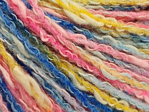 Fiber Content 50% Cotton, 50% Acrylic, Pink Shades, Brand Ice Yarns, Gold, Blue Shades, Yarn Thickness 4 Medium  Worsted, Afghan, Aran, fnt2-57287