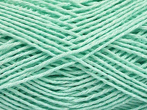 Fiber Content 100% Cotton, Light Mint Green, Brand Ice Yarns, Yarn Thickness 2 Fine  Sport, Baby, fnt2-57311