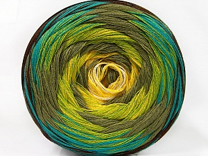 Fiber Content 50% Acrylic, 50% Cotton, Yellow, White, Turquoise, Khaki, Brand Ice Yarns, Green, Brown, Yarn Thickness 2 Fine  Sport, Baby, fnt2-57332
