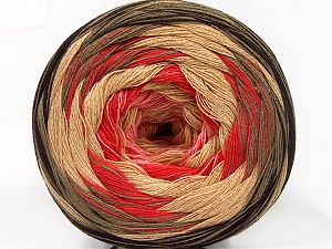 Fiber Content 50% Acrylic, 50% Cotton, Salmon, Pink, Brand Ice Yarns, Camel, Brown, Beige, Yarn Thickness 2 Fine  Sport, Baby, fnt2-57333