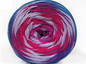 Fiber Content 50% Cotton, 50% Acrylic, Turquoise, Purple, Pink, Lilac, Brand Ice Yarns, Fuchsia, Yarn Thickness 2 Fine  Sport, Baby, fnt2-57334