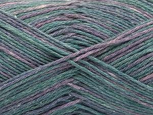 Fiber Content 100% Acrylic, Lilac Shades, Brand Ice Yarns, Green Shades, Yarn Thickness 2 Fine  Sport, Baby, fnt2-57347
