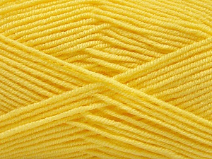 Fiber Content 50% Acrylic, 50% Bamboo, Yellow, Brand Ice Yarns, Yarn Thickness 2 Fine  Sport, Baby, fnt2-57393