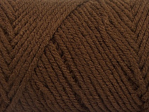 Items made with this yarn are machine washable & dryable. Fiber Content 100% Acrylic, Brand Ice Yarns, Coffee Brown, Yarn Thickness 4 Medium  Worsted, Afghan, Aran, fnt2-57406