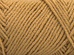 Items made with this yarn are machine washable & dryable. Fiber Content 100% Acrylic, Light Brown, Brand Ice Yarns, Yarn Thickness 4 Medium  Worsted, Afghan, Aran, fnt2-57410