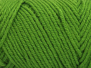 Items made with this yarn are machine washable & dryable. Fiber Content 100% Acrylic, Brand Ice Yarns, Green, Yarn Thickness 4 Medium  Worsted, Afghan, Aran, fnt2-57416