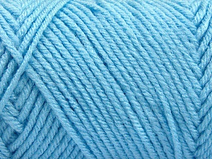 Items made with this yarn are machine washable & dryable. Fiber Content 100% Acrylic, Light Blue, Brand Ice Yarns, Yarn Thickness 4 Medium  Worsted, Afghan, Aran, fnt2-57423