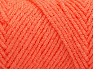 Items made with this yarn are machine washable & dryable. Fiber Content 100% Acrylic, Light Orange, Brand Ice Yarns, Yarn Thickness 4 Medium  Worsted, Afghan, Aran, fnt2-57427