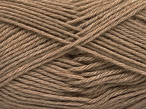 Fiber Content 65% Merino Wool, 35% Silk, Brand Ice Yarns, Camel, Yarn Thickness 3 Light  DK, Light, Worsted, fnt2-57667