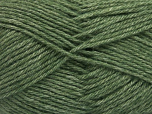 Fiber Content 65% Merino Wool, 35% Silk, Brand Ice Yarns, Dark Green, Yarn Thickness 3 Light  DK, Light, Worsted, fnt2-57670