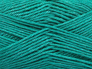 Fiber Content 65% Merino Wool, 35% Silk, Brand Ice Yarns, Emerald Green, Yarn Thickness 3 Light  DK, Light, Worsted, fnt2-57672