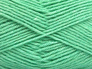 Fiber Content 65% Merino Wool, 35% Silk, Mint Green, Brand Ice Yarns, Yarn Thickness 3 Light  DK, Light, Worsted, fnt2-57673