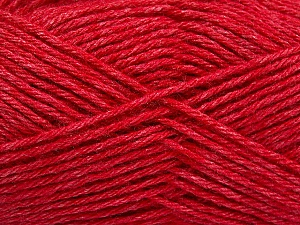 Fiber Content 65% Merino Wool, 35% Silk, Red, Brand Ice Yarns, Yarn Thickness 3 Light  DK, Light, Worsted, fnt2-57675