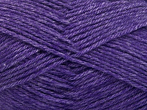 Fiber Content 65% Merino Wool, 35% Silk, Purple, Brand Ice Yarns, Yarn Thickness 3 Light  DK, Light, Worsted, fnt2-57679