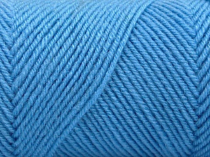 Fiber Content 50% Wool, 50% Acrylic, Light Blue, Brand Ice Yarns, Yarn Thickness 3 Light  DK, Light, Worsted, fnt2-57731