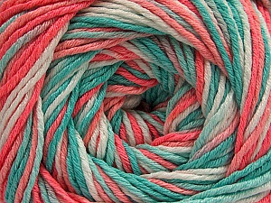 Fiber Content 100% Acrylic, White, Salmon Shades, Mint Green, Brand Ice Yarns, Yarn Thickness 3 Light  DK, Light, Worsted, fnt2-57745
