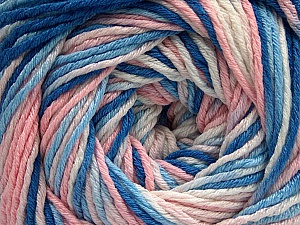 Fiber Content 100% Acrylic, White, Light Pink, Brand Ice Yarns, Blue Shades, Yarn Thickness 3 Light  DK, Light, Worsted, fnt2-57746