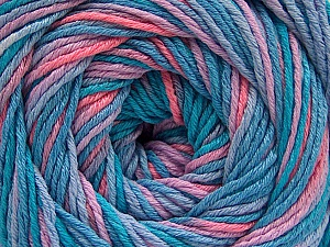 Fiber Content 100% Acrylic, Turquoise Shades, Salmon, Lilac, Brand Ice Yarns, Yarn Thickness 3 Light  DK, Light, Worsted, fnt2-57749
