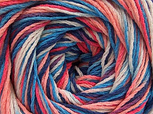 Fiber Content 100% Acrylic, White, Salmon Shades, Brand Ice Yarns, Blue Shades, Yarn Thickness 3 Light  DK, Light, Worsted, fnt2-57752