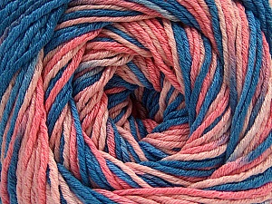 Fiber Content 100% Acrylic, Salmon Shades, Brand Ice Yarns, Blue Shades, Yarn Thickness 3 Light  DK, Light, Worsted, fnt2-57757