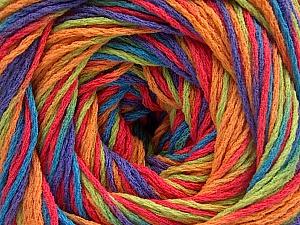 Fiber Content 100% Acrylic, Salmon, Purple, Orange, Brand Ice Yarns, Green, Blue, Yarn Thickness 3 Light  DK, Light, Worsted, fnt2-57760