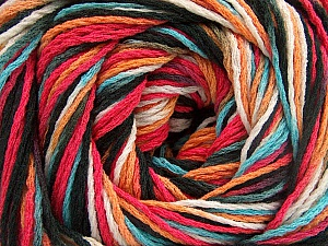 Fiber Content 100% Acrylic, White, Turquoise, Salmon, Orange, Brand Ice Yarns, Black, Yarn Thickness 3 Light  DK, Light, Worsted, fnt2-57764