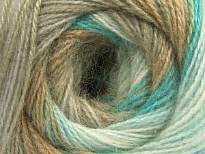 Fiber Content 75% Acrylic, 25% Angora, White, Turquoise, Brand Ice Yarns, Camel, Beige, Yarn Thickness 2 Fine  Sport, Baby, fnt2-57799