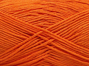 Fiber Content 50% Acrylic, 50% Bamboo, Orange, Brand Ice Yarns, Yarn Thickness 2 Fine  Sport, Baby, fnt2-57842