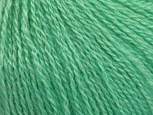 Fiber Content 65% Merino Wool, 35% Silk, Mint Green, Brand Ice Yarns, Yarn Thickness 1 SuperFine  Sock, Fingering, Baby, fnt2-57862