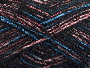 Fiber Content 55% Acrylic, 45% Polyamide, Pink, Brand Ice Yarns, Blue, Black, Yarn Thickness 4 Medium  Worsted, Afghan, Aran, fnt2-57881
